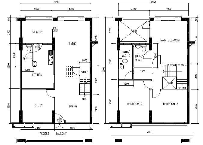 Maisonette Houses Plans