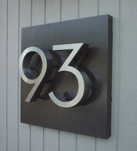 Unit house number plates our em renovation experience for Front door number plaques