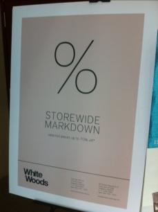 White Woods Poster