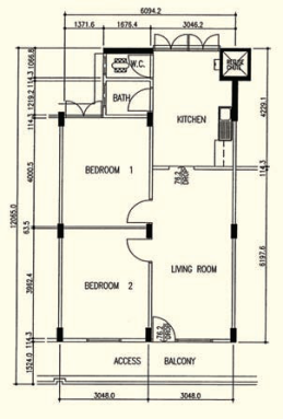 1970s 3 room 60 sqm