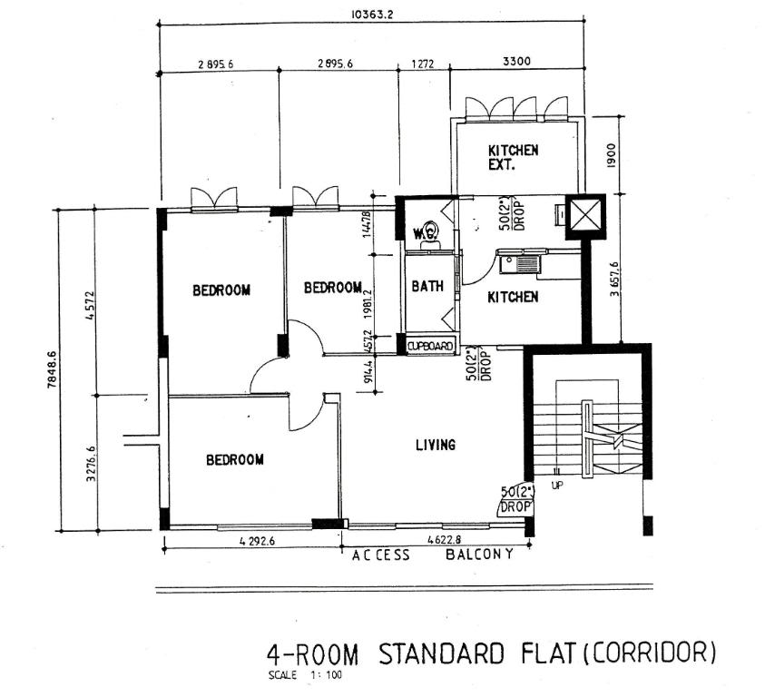 Part 1 mystery of the not shrinking hdb flat our em for Standard house plans free