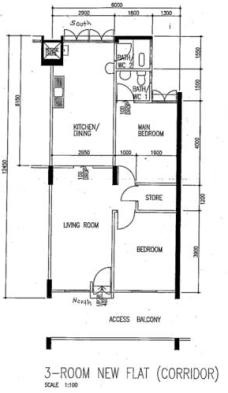 1980s 3 room 69 sqm