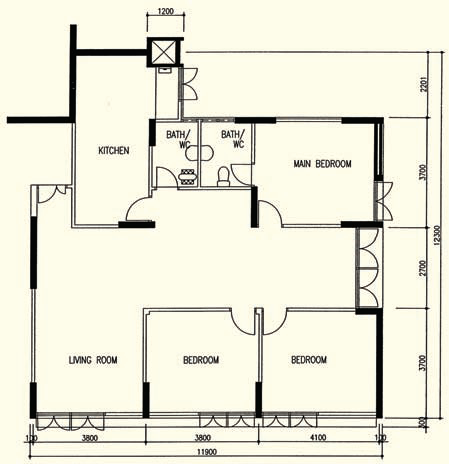 Part 1 mystery of the not shrinking hdb flat our em for 8 sqm room design