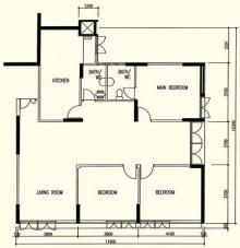 1980s 5 room 123 sqm