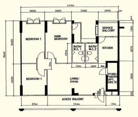 1990s 4 room 100 sqm