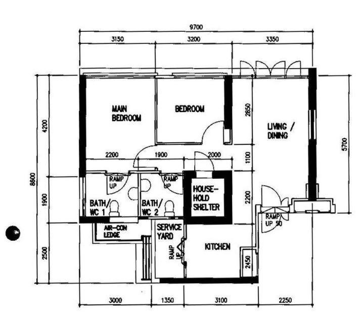 2000s 3 Room 65 Sqm