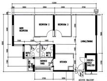 2000s 4 room 90 sqm