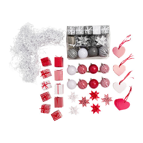 IKEA julmys-36-piece-hanging-ornament-set