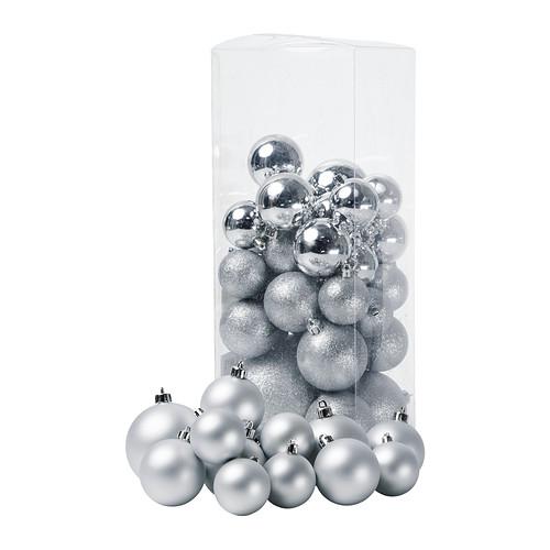 Ikea Christmas Decorations 2012: IKEA Julmys-decorative-ornament-set-of-50-silver