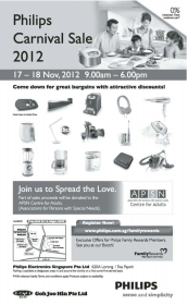 Philips Carnival Sale Nov 2012