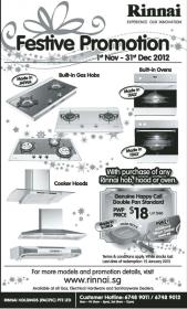 Rinnai Sale Nov 2012