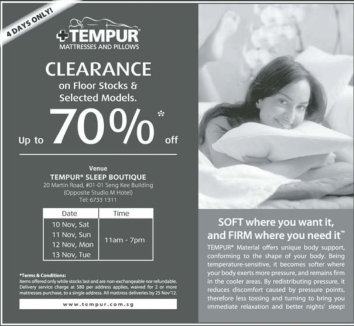 Tempur Sale Nov 2012