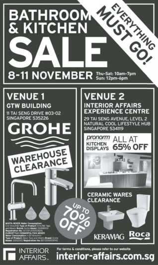 Interior Affairs Grohe Sale Nov 2012