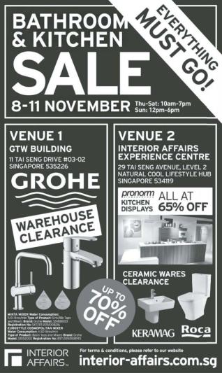 Interior Affairs Grohe Sale Nov 2012