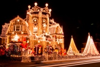 Lighted Christmas House